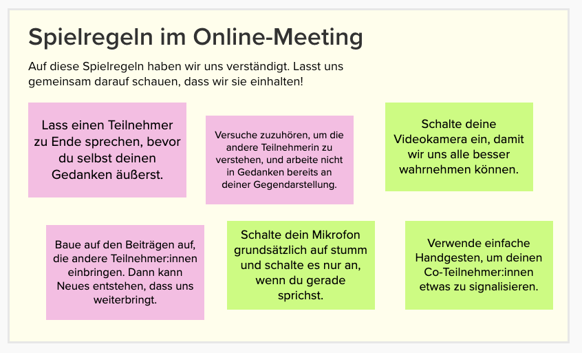 Online-Meetings effektiv gestalten: Spielregeln
